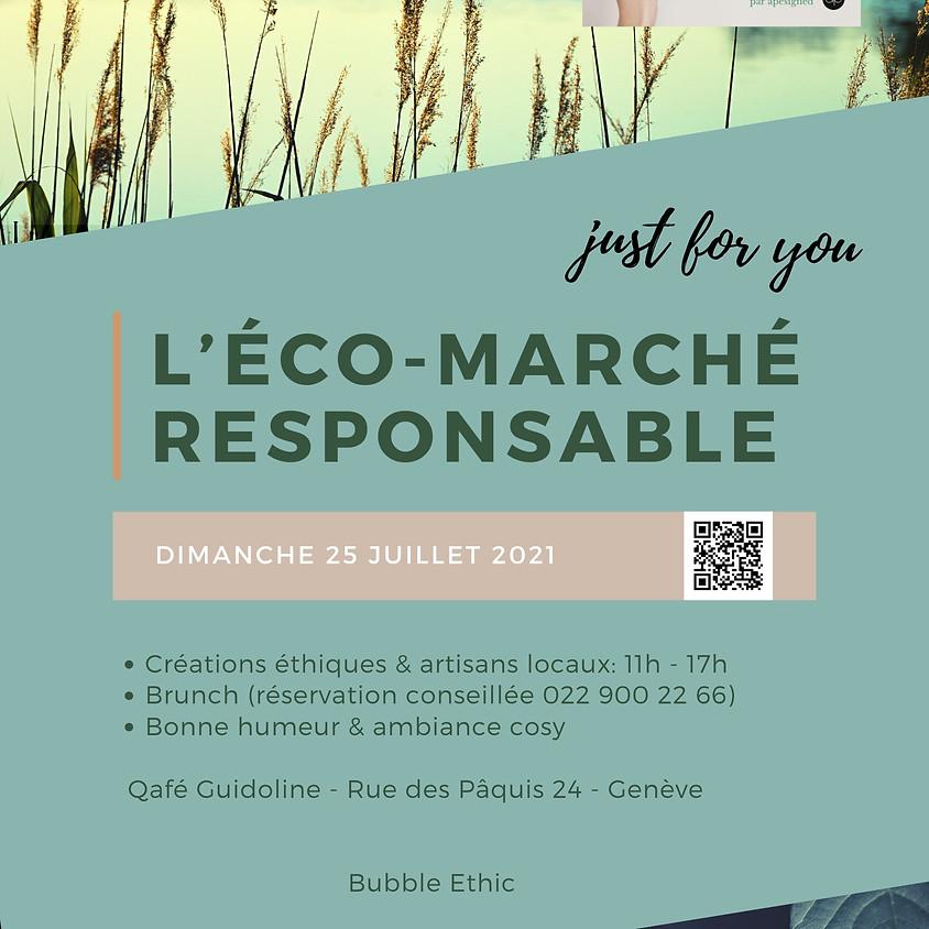 L'éco-marché Bubble Ethic @Qafé Guidoline dimanche 25 juillet 2021