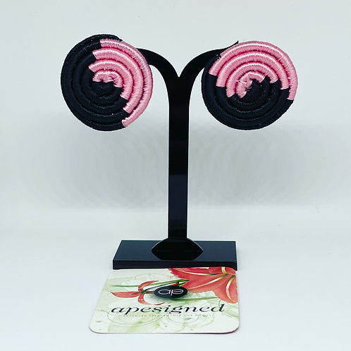Saida earrings - black/pink
