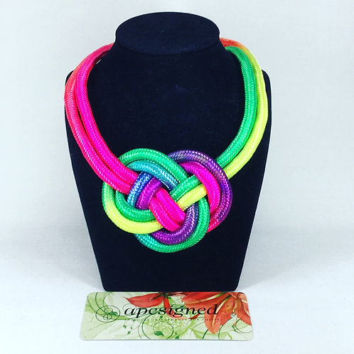 Necklace - rainbow rope