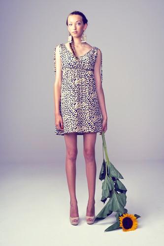 Leopard dress apesigned