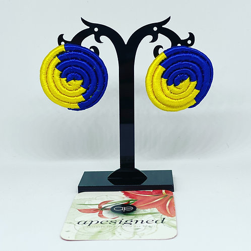 Saida earrings - blue/yellow