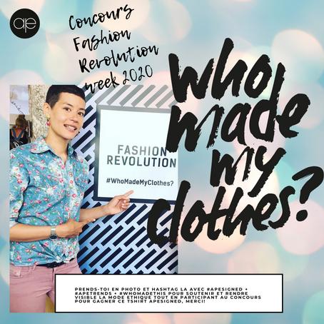 """""""Who Made My Clothes"""" - Vous êtes la révolution vers une mode équitable!"""