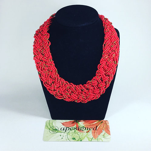 Necklace - red perles