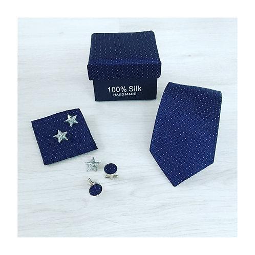 Gentlemen Box - Navy Blue/Dots