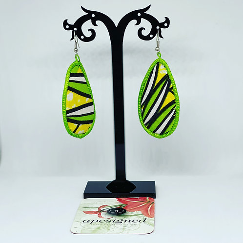 Gloria earrings - green/black