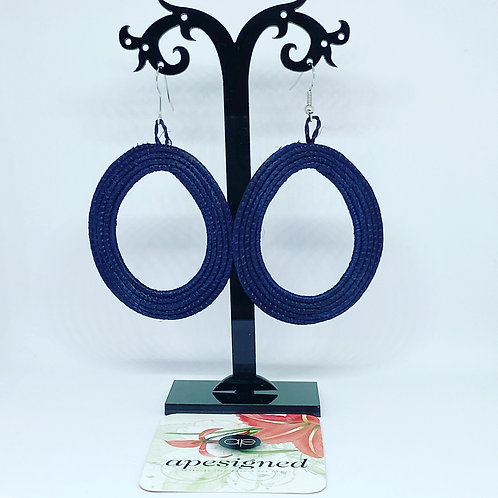 Shema earrings - black créole