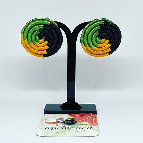 Saida earrings - black/green/gold