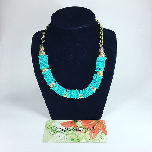 Necklace - turquoise perles