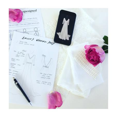 La robe de mariée personnalisée:  Le témoignage d'Emilie