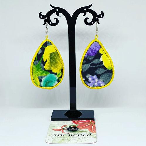 Gloria earrings - yellow/black