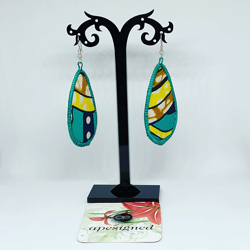 Gloria earrings - turquoise/yellow