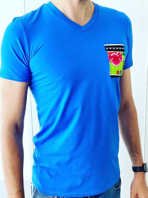 T-Shirt Klee blue - Ethnic Flower