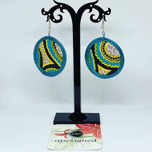 Gloria earrings - blue/yellow