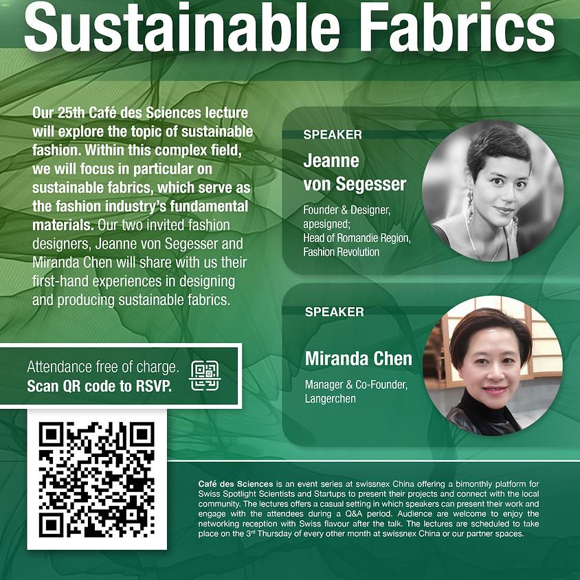 Café des Sciences: Sustainable Fabrics with apesigned & Langerchen
