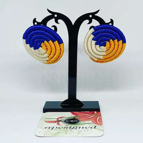 Saida earrings - blue/gold/white