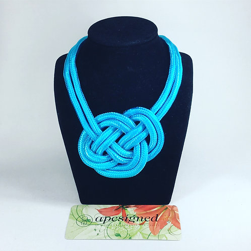 Necklace - blue rope