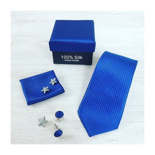 Gentlemen Box - Silver Blue