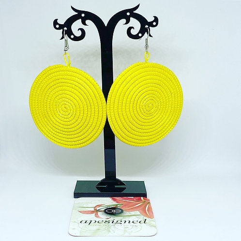 Shema earrings - yellow