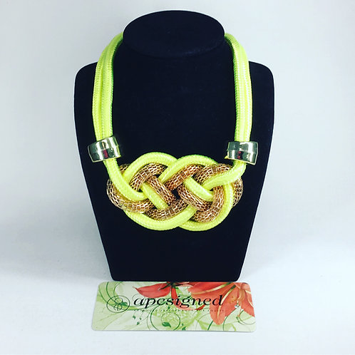 Necklace - yellow/gold rope