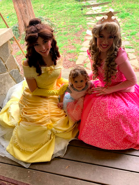 Three princesses after a play-date!