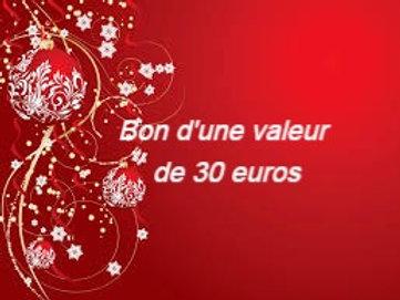 BON CADEAU de 30 Euros