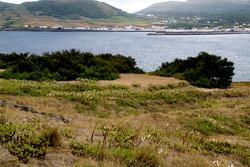 Vista do Ilheu para a Vila da Praia