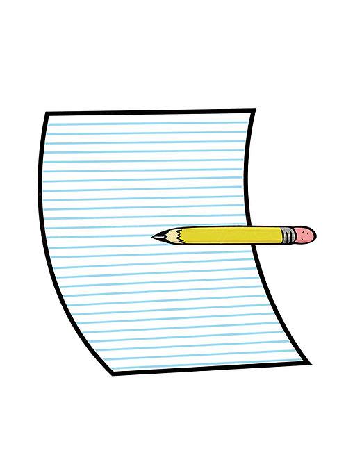 pencil paper