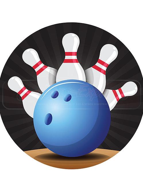 bowling badge