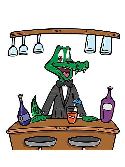 crocodile bartender