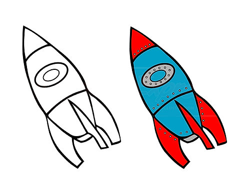 rocket coloring book