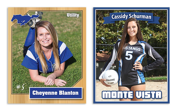 softball & volleyball sports cards