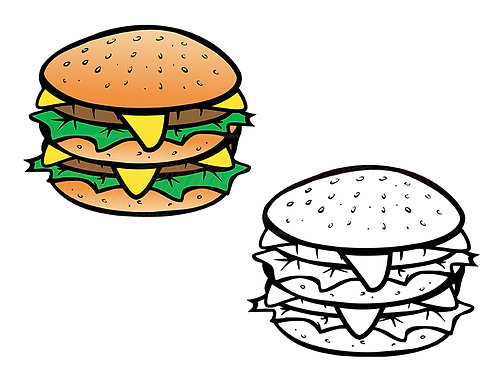 cheeseburger coloring book