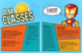 comic book style spread design for catalog at Monte Vista Christianschool