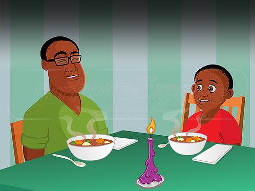 father son black