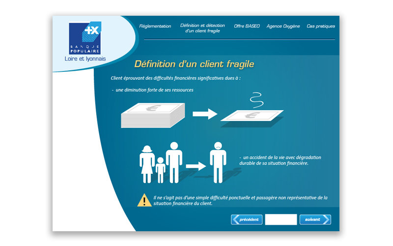 infographics forBanque Populaire
