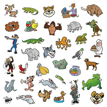 random cartoon animal collection.jpg