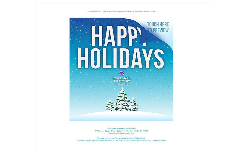 Holiday e-card for Benchmark Hospitality