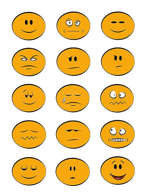 emoji color collection flat