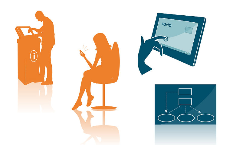 vector illustration silhouettes for e-learning solutions client