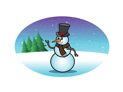 snowfall snowman