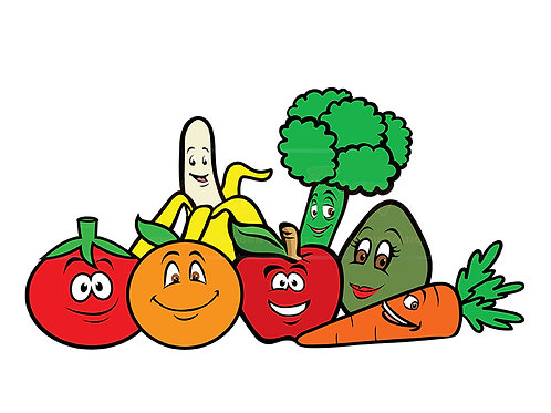 fruits vegetables cartoon collection 3
