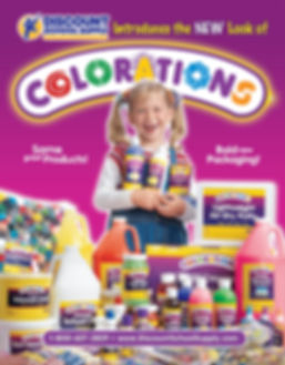 young girl holding paint in poster design & photoshoot for children's products supplier