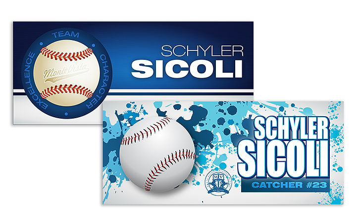 name plate designs for baseball team