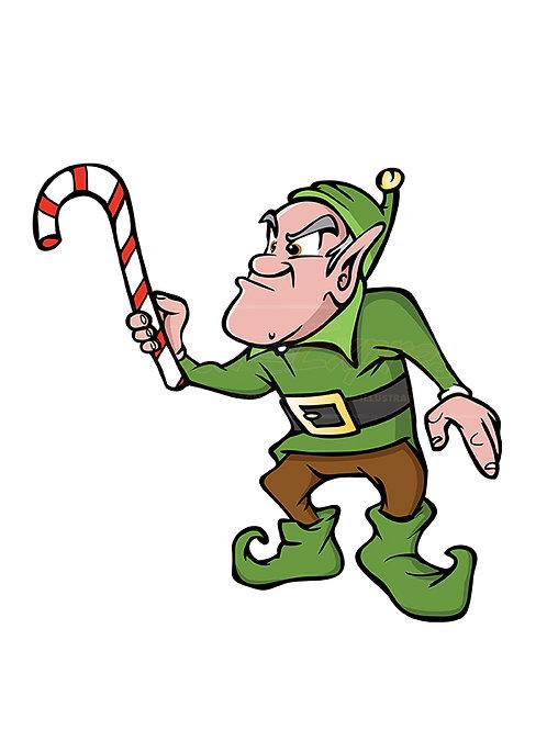 elf candycane Christmas