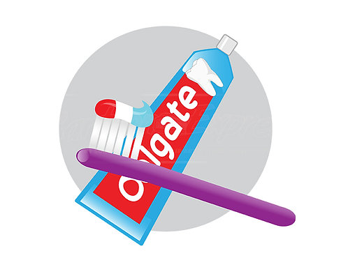 toothpaste toothbrush