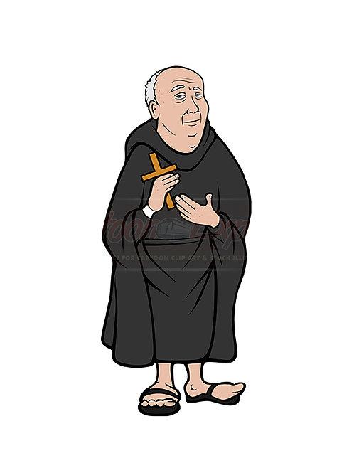 monk holding cross