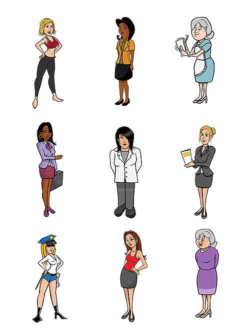 women cartoons