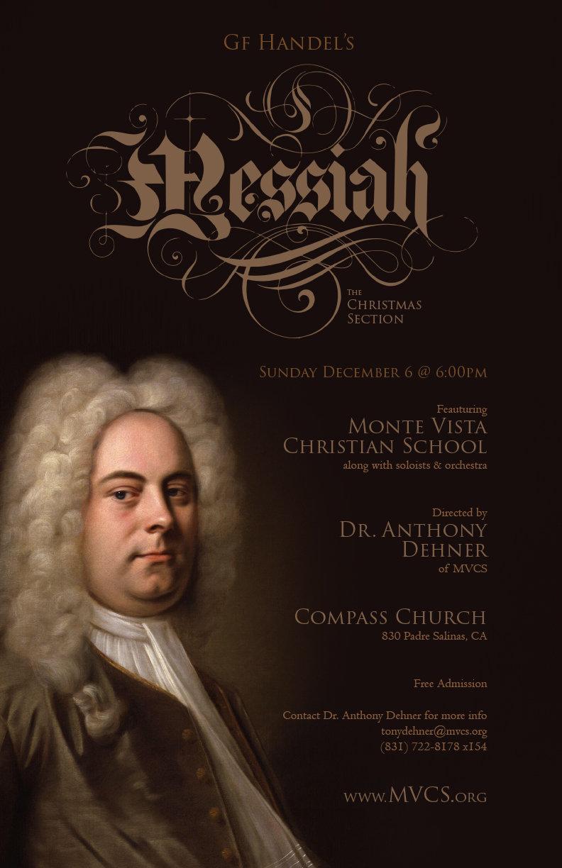 Concert poster for GF Handel's Messiah