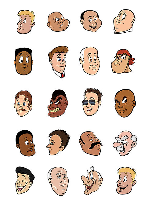 male faces collection