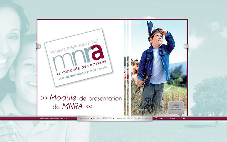 e-learning module for MNRA, a French insurance client